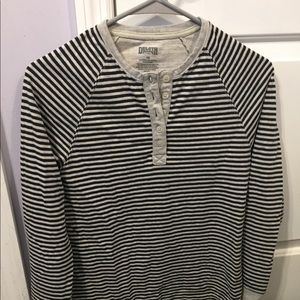 Tops - Duluth trading women's striped tunic with buttons